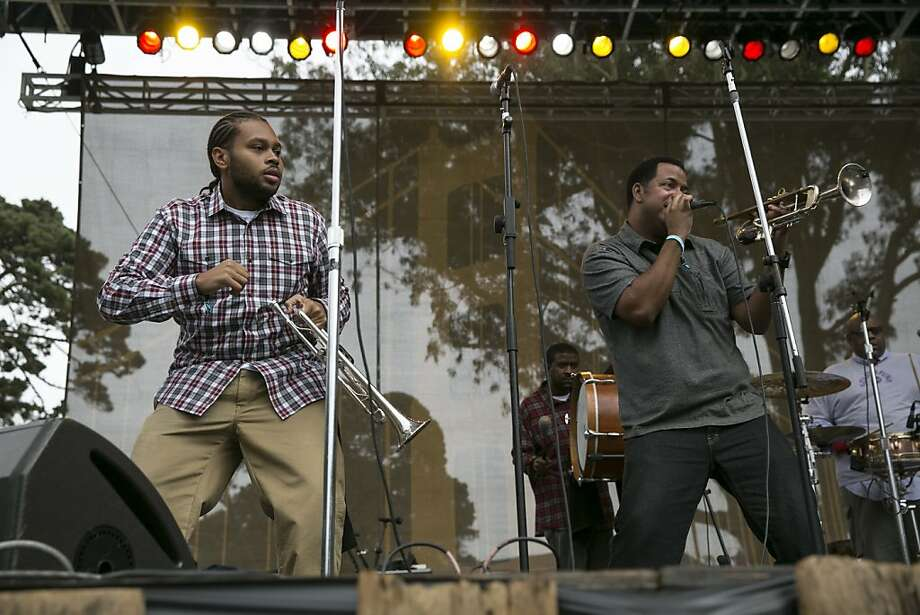 The band Soul Rebels performs on the Towers of Gold Stage during the last day of the three-day music festival Hardly Strictly Bluegrass in Golden Gate Park in San Francisco, Calf., on Sunday, October 7, 2012. Photo: Laura Morton, Special To The Chronicle