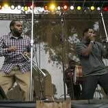 The band Soul Rebels performs on the Towers of Gold Stage during the last day of the three-day music festival Hardly Strictly Bluegrass in Golden Gate Park in San Francisco, Calf., on Sunday, October 7, 2012.