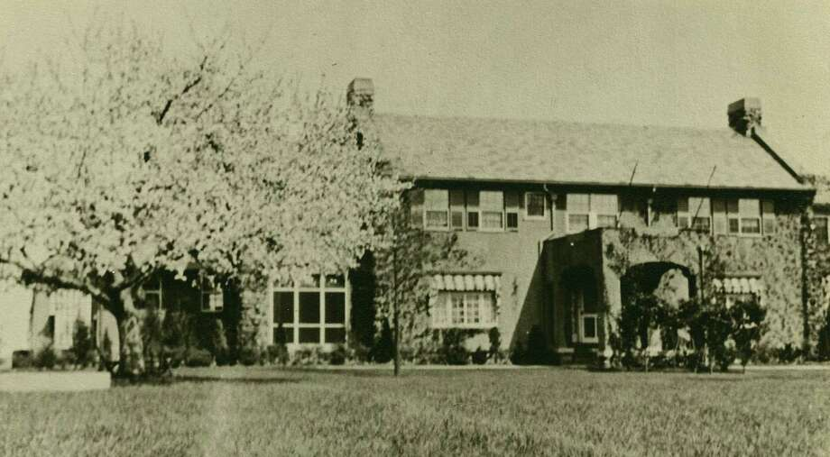 An undated photo of the 12-room house at 33 Sweet Briar, which was built in 1910. Its carriage house   still at 64 Sweet Briar Road   was one of the first homes in the city. Photo: Contributed Photo