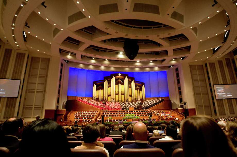 The Mormon Tabernacle Choir performs during the 182nd Semiannual General Conference of the Church of Jesus Christ of Latter-day Saints in Salt Lake City on Sunday, Oct. 7, 2012. (AP Photo/The Salt Lake Tribune, Kim Raff) Photo: Kim Raff, Associated Press / The Salt Lake Tribune