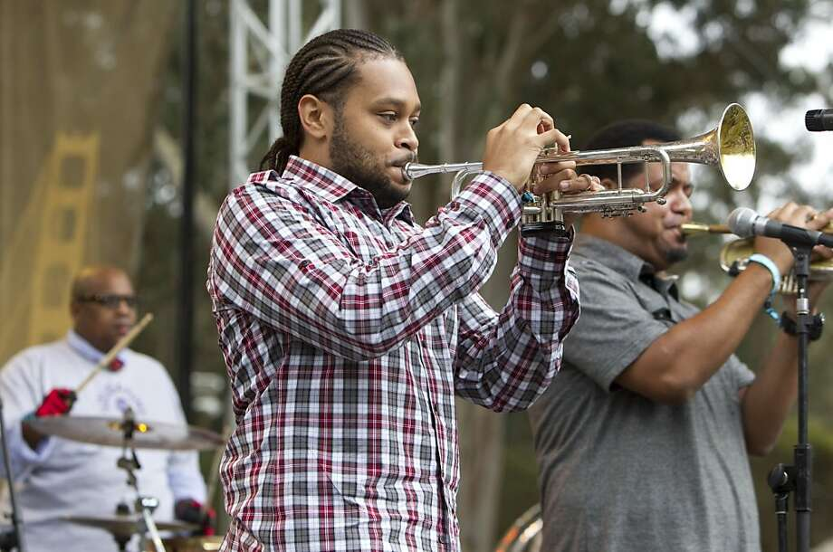 The Soul Rebels perform on the Towers of Gold Stage during the last day of the three-day music festival Hardly Strictly Bluegrass in Golden Gate Park in San Francisco, Calf., on Sunday, October 7, 2012. Photo: Laura Morton, Special To The Chronicle