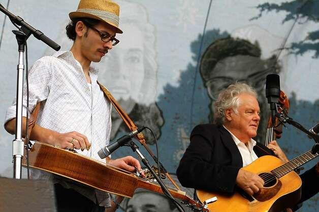 Peter Rowan (right) performs at the final day of Hardly Strictly Bluegrass in Golden Gate Park on October 7, 2012. Photo: Clint Wirtanen, The Chronicle