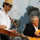 Peter Rowan (right) performs at the final day of Hardly Strictly Bluegrass in Golden Gate Park on October 7, 2012.