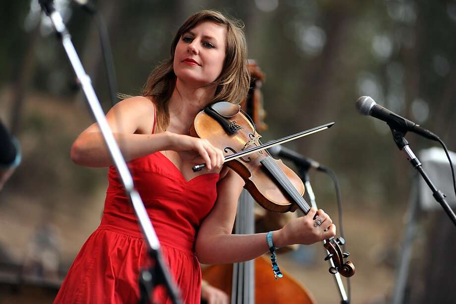 Annalisa Tornfelt plays the violine during Black Prairie's set on the Rooster Stage.  Day 3 of the Hardly Strictly Bluegrass festival in Golden Gate Park in San Francisco, CA Sunday October 7th, 2012. Photo: Michael Short, Special To The Chronicle