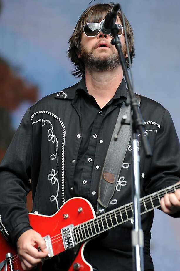 Lead singer Jay Farrar during his alt-country band Son Volt's set on the Arrow Stage.   Day 3 of the Hardly Strictly Bluegrass festival in Golden Gate Park in San Francisco, CA Sunday October 7th, 2012. Photo: Michael Short, Special To The Chronicle