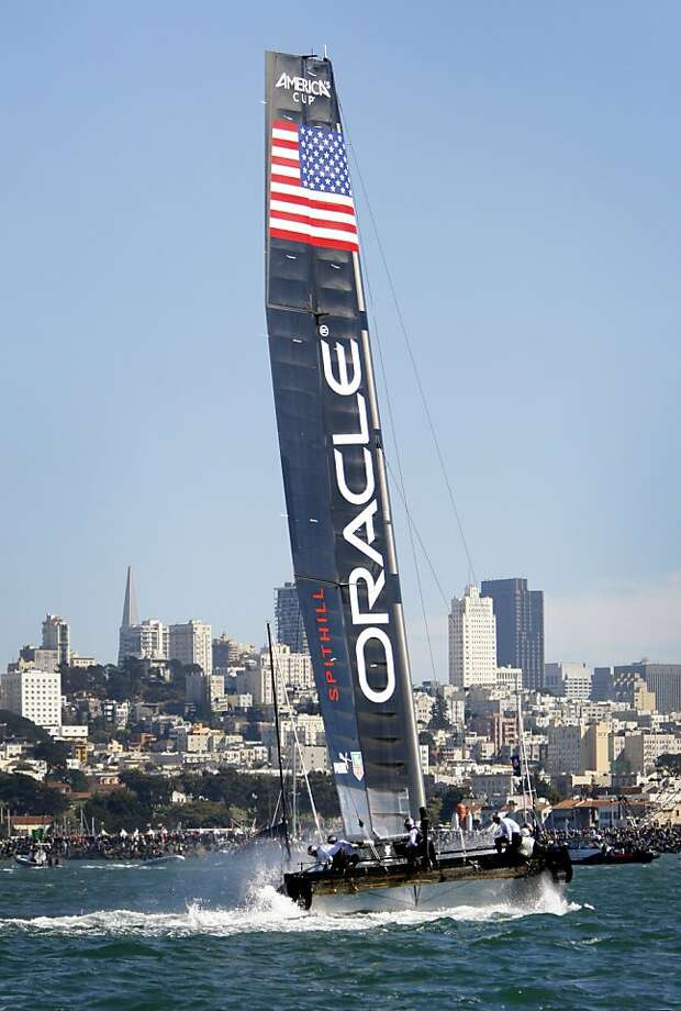 Oracle Team USA Spithill competes in the America's Cup World Series in October, a prelude to this year's finals. Photo: Sarah Rice, Special To The Chronicle