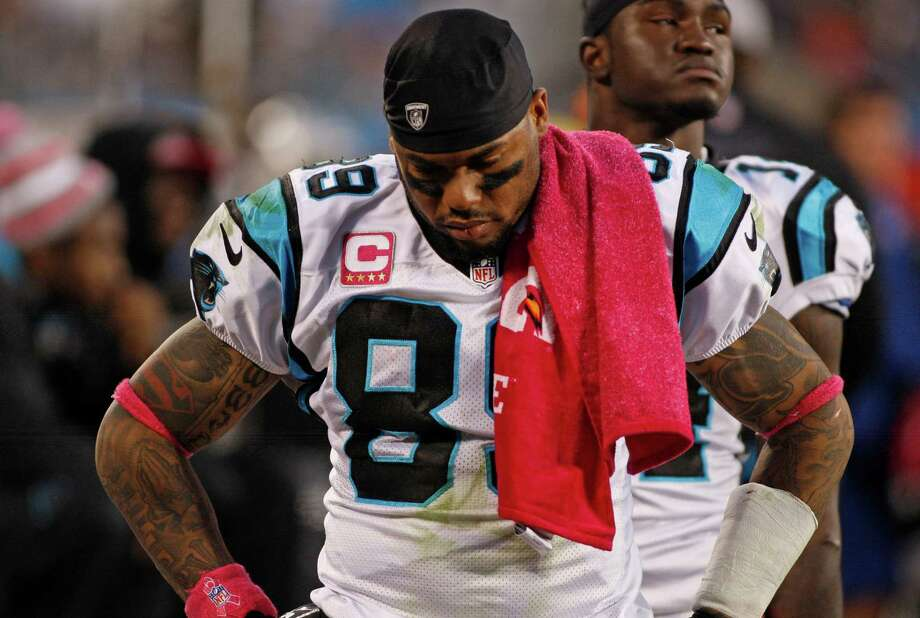 Carolina Panthers' Steve Smith (89) react in the final moments of an NFL football game against the Seattle Seahawks in Charlotte, N.C., Sunday, Oct. 7, 2012. The Seahawks won 16-12. Photo: AP