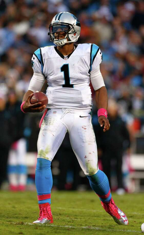Carolina Panthers' Cam Newton (1) reacts after a penalty during the fourth quarter of an NFL football game against the Seattle Seahawks in Charlotte, N.C., Sunday, Oct. 7, 2012. The Seahawks won 16-12. Photo: AP