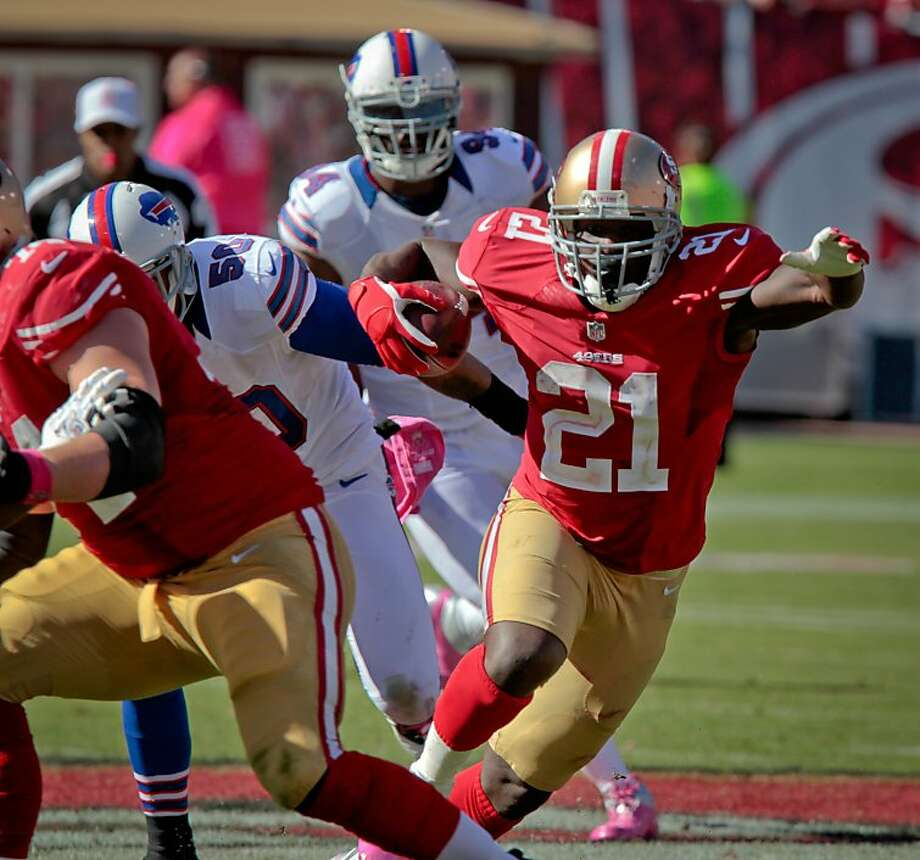 Unlike 2010, defenses can no longer call out the play before Frank Gore gets the ball. Photo: John Storey, Special To The Chronicle
