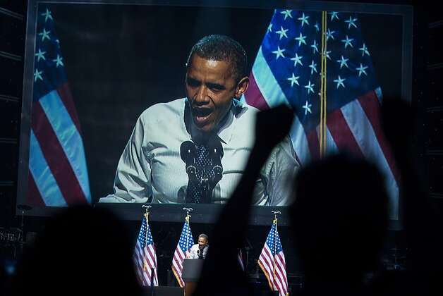 President Obama speaks in Los Angeles before heading to Northern California. Photo: Brendan Smialowski, AFP/Getty Images