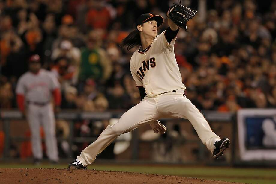 Tim Lincecum wasn't scored on in his two innings of relief, allowing one hit and striking out two. Photo: Michael Macor, The Chronicle