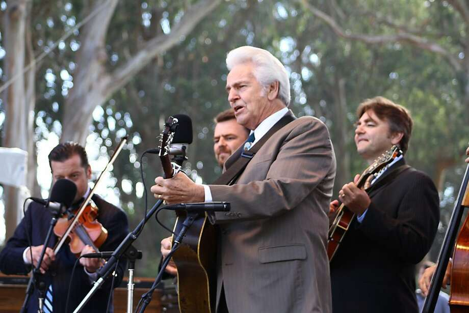 Del McCoury performs during the final day of Hardly Strictly Bluegrass in Golden Gate Park on October 7, 2012. Photo: Clint Wirtanen, The Chronicle