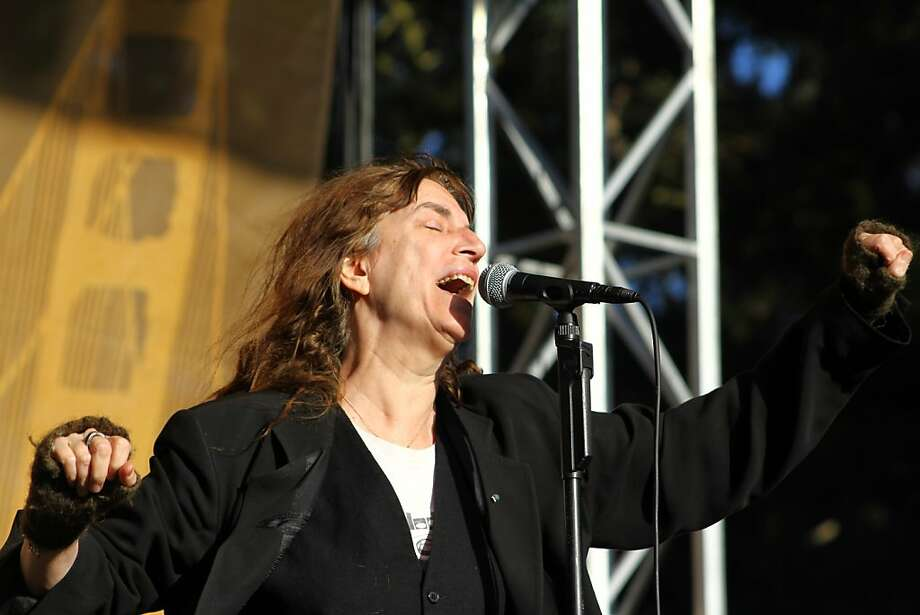 Patti Smith performs during the final day of Hardly Strictly Bluegrass in Golden Gate Park on October 7, 2012. Photo: Clint Wirtanen, The Chronicle