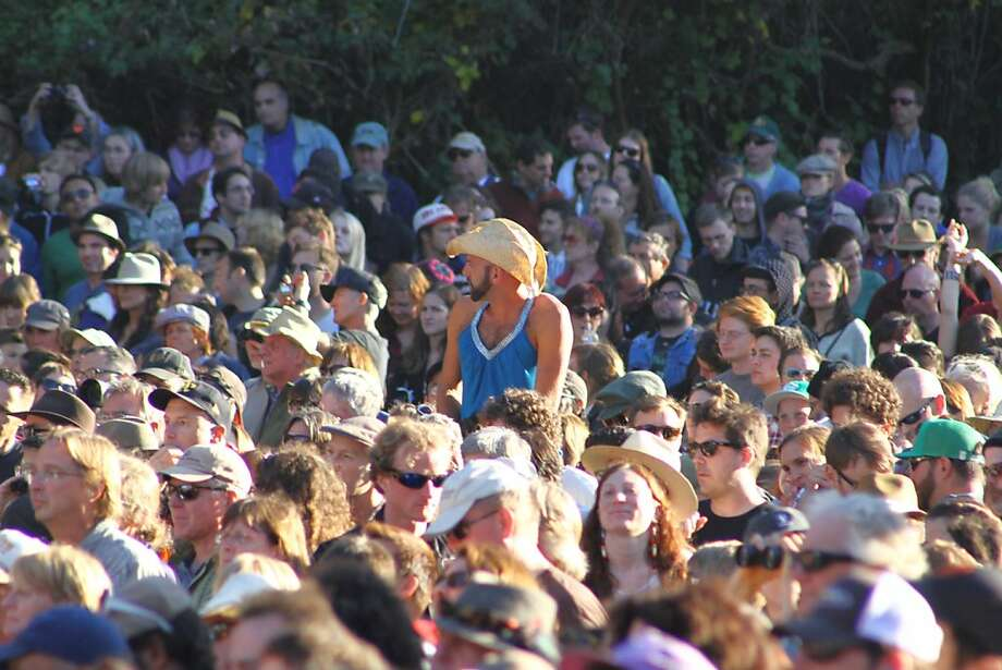 Fans enjoy the final day of Hardly Strictly Bluegrass in Golden Gate Park on October 7, 2012. Photo: Clint Wirtanen, The Chronicle