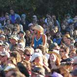 Fans enjoy the final day of Hardly Strictly Bluegrass in Golden Gate Park on October 7, 2012.