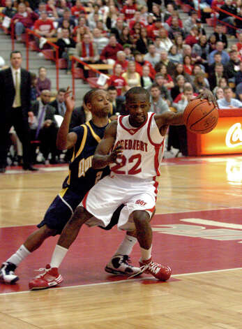 Sacred Heart University Chauncey Hardy in action against Quinnipiac University in Farfield, Conn. on Thursday Feb. 04, 2010. Photo: Christian Abraham / Connecticut Post