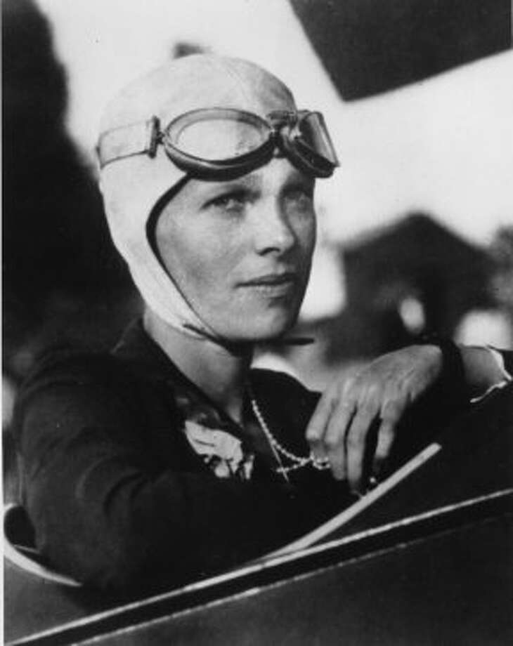An undated file photo shows Amelia Earhart, the first woman to fly solo across the Atlantic Ocean. Historians have search for the wreckage of her plane in the Pacific ever since her 1937 disappearance  (AP)