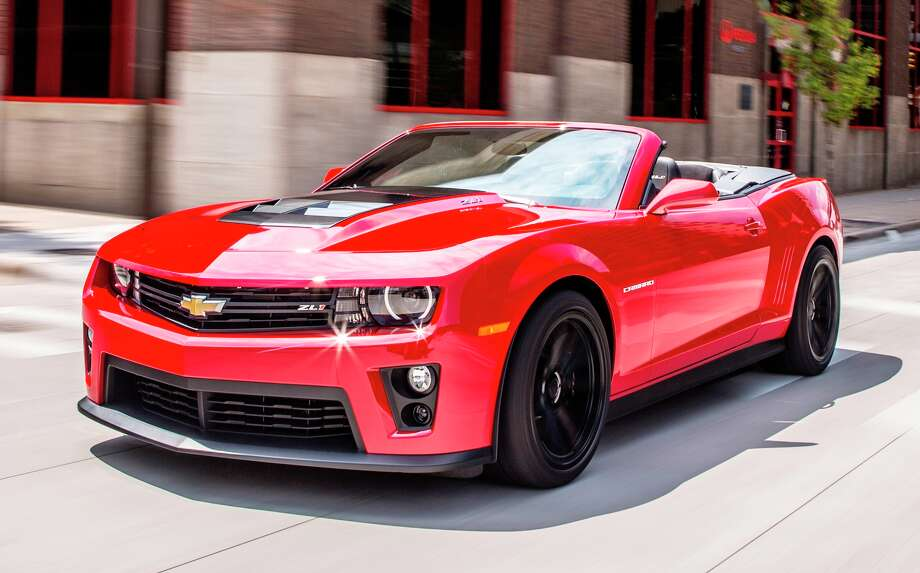 Chevrolet muscle cars (Camaro ZL1 shown) have a strong presence at the State Fair of Texas Auto Show.