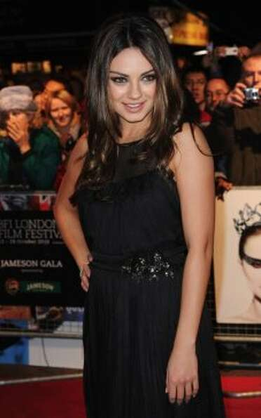 Actress Mila Kunis attends the premiere of 'Black Swan' during the 54th BFI London Film Festival at