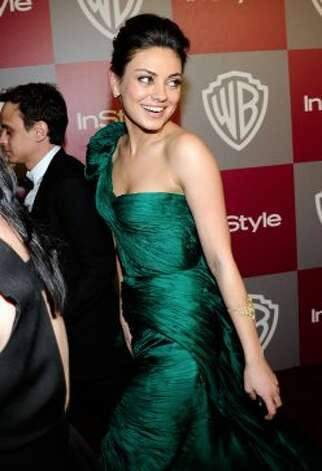 Actress Mila Kunis arrives at the 2011 InStyle And Warner Bros. 68th Annual Golden Globe Awards post-party held at The Beverly Hilton hotel on January 16, 2011 in Beverly Hills. (Getty Images)