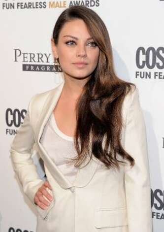Actress Mila Kunis attends the Cosmopolitan Magazine's Fun Fearless Males Of 2011 at The Mandarin Oriental Hotel on March 7, 2011 in New York. (Getty Images)