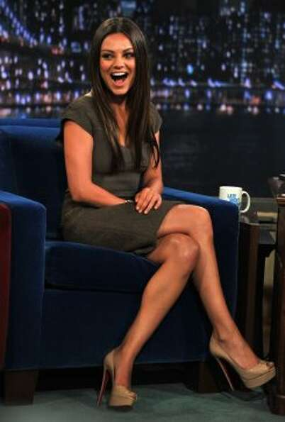 "Mila Kunis visits ""Late Night With Jimmy Fallon"" at Rockefeller Center on July 18, 2011 in"