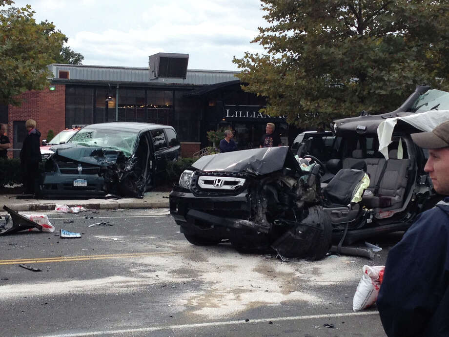 A serious crash closed North Avenue in Norwalk, Conn. on Monday, Oct. 8, 2012. Photo: Contributed