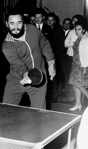Fidel plays table tennis