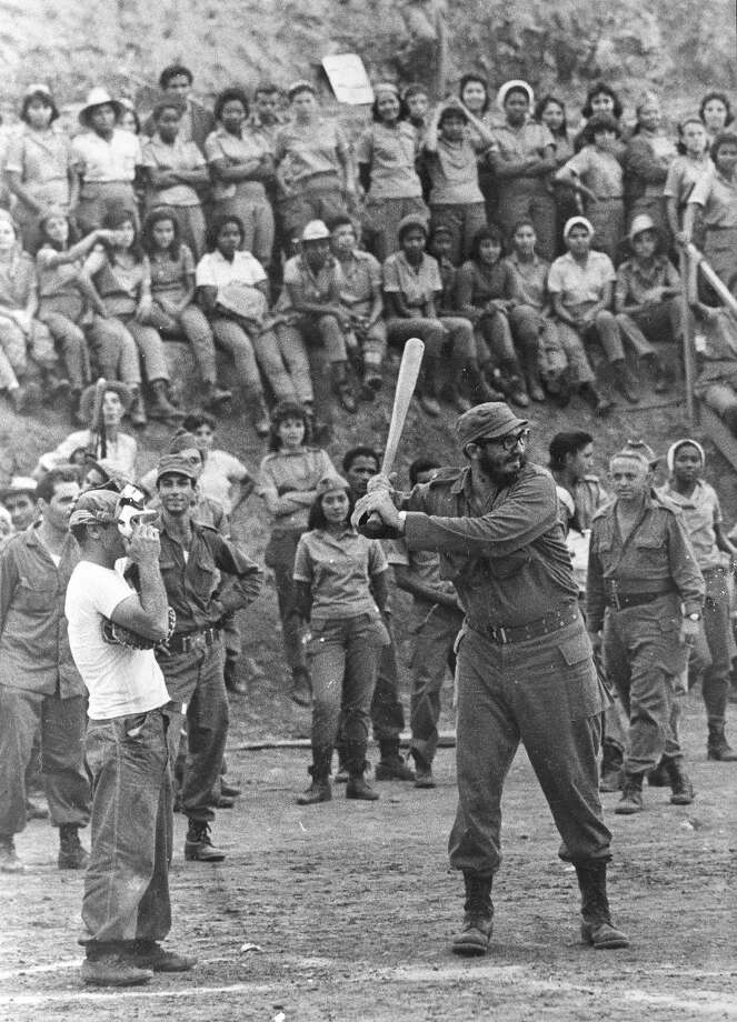 But baseball is Fidel's true passion. Here he is at bat in 1962. Photo: ASSOCIATED PRESS / AP1962