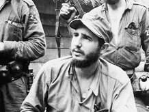 Fidel Castro Ruz, young anti-Batista guerrilla leader, is operating in the mountains of eastern Cuba. The attack on President Fulgencio Batista in a brief revolt on March 13, 1957 in Havana Cuba was not directly linked with Castro, but the students involved were believed to be inspired by the guerrilla campaign which the army has been unable to suppress. Police said the rebel dead in the revolt included Jose Antonio Echeverria, president of the Havana student's federation and a friend of Castro. (AP Photo)