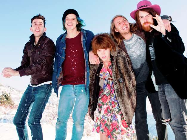 "Los Angeles-based Indie rockers Grouplove are still riding high with their debut album, ""Never Trust a Happy Song."" Courtesy photo Photo: Courtesy Photo"