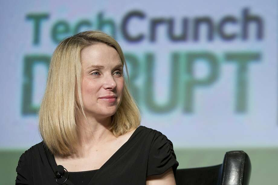 Marissa Mayer, chief executive officer of Yahoo! Inc., smiles during TechCrunch Disrupt SF 2012 in San Francisco, California, U.S., on Wednesday, Sept. 12, 2012. Mayer is trying to drive a turnaround at a company that suffered three straight years of sales declines as Google Inc. and Facebook Inc. did a better job attracting users and advertisers. Photographer: David Paul Morris/Bloomberg *** Local Caption *** Marissa Mayer Photo: David Paul Morris, Bloomberg