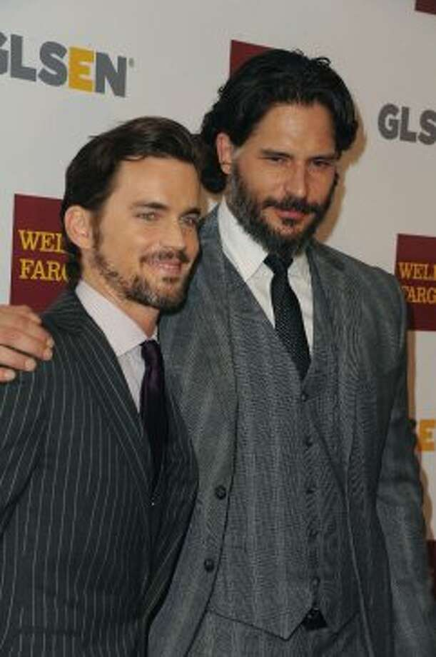 Matt Bomer, at left, and Joe Manganiello arrives at The 8th Annual GLSEN Respect Awards, Friday, October 5, 2012, at The Beverly Hills Hotel, in Beverly Hills, California.  (Associated Press)