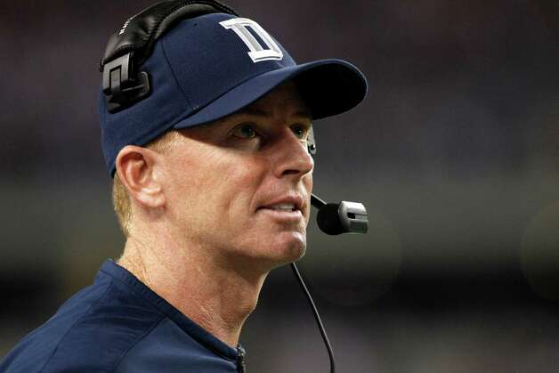 Dallas Cowboys head coach Jason Garrett on the sideline during an NFL football game against the Chicago Bears Monday, Oct. 1, 2012, in Arlington, Texas. The Bears won 34-18. (AP Photo/Tony Gutierrez) Photo: Tony Gutierrez, Associated Press / AP