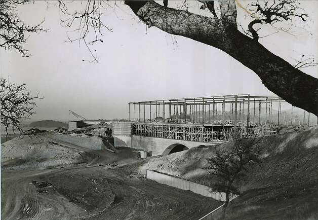 Marin County Civic Center being built in San Rafael in 1962. Photo: Photographer Unknown, Chronicle File