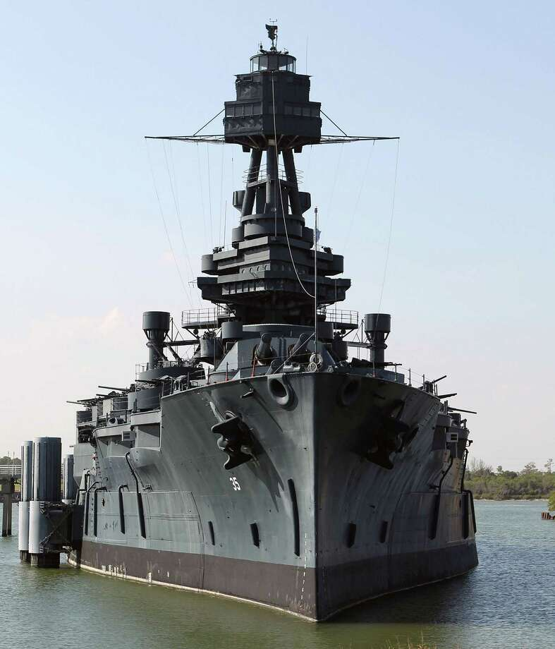 The Battleship Texas which will now be offering Hard Hat Tours of the ship Friday, Oct. 5, 2012, in La Porte. Photo: James Nielsen, Chronicle / © Houston Chronicle 2012