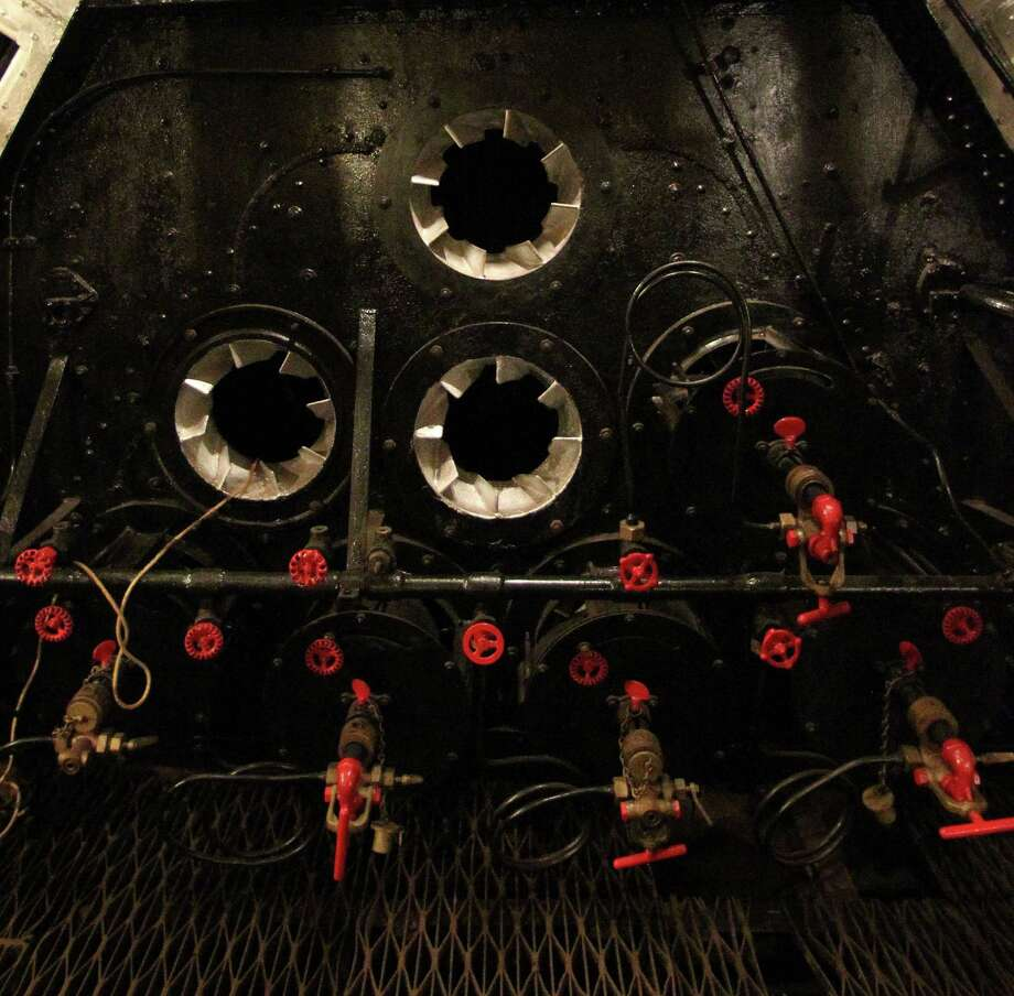 "A restored engine boiler in the Boiler Room in an area visited during the Battleship Texas ""Hard Hat Tour"" Friday, Oct. 5, 2012, in La Porte. Photo: James Nielsen, Chronicle / © Houston Chronicle 2012"