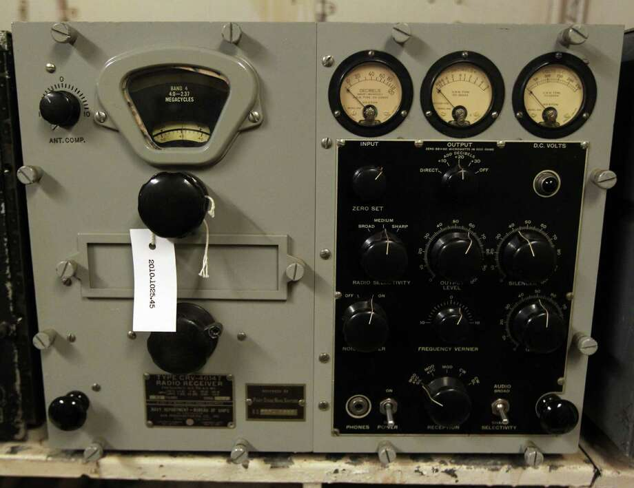"A restored radio inside the Radio Room which is visited during the Battleship Texas ""Hard Hat Tour"" Friday, Oct. 5, 2012, in La Porte. Photo: James Nielsen, Chronicle / © Houston Chronicle 2012"