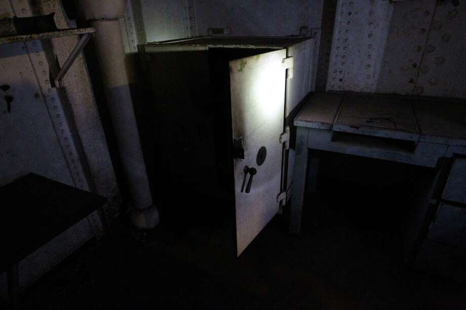 "A safe inside a room near the Radio Room which is visited during the Battleship Texas ""Hard Hat Tour"" Friday, Oct. 5, 2012, in La Porte. Photo: James Nielsen, Chronicle / © Houston Chronicle 2012"
