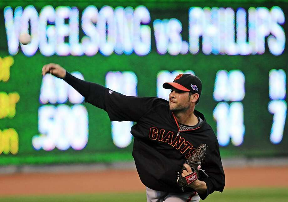 "Ryan Vogelsong knows that his first postseason start is anything but ""just another game"" - it could be the team's final game. Photo: Al Behrman, Associated Press"
