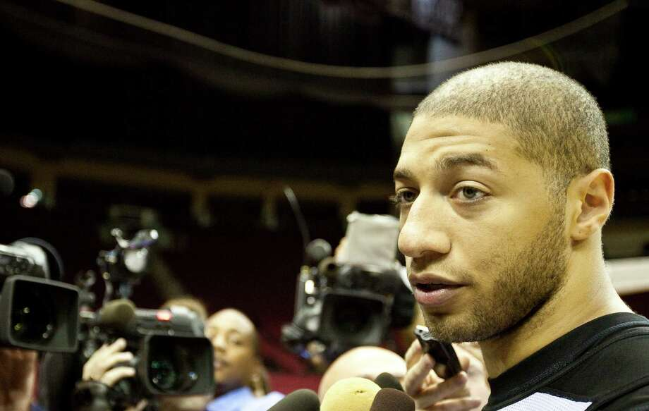Rockets forward Royce White, answering questions after his first day of practice, says his advocacy for those with mental illness helps with his treatment. Photo: Nick De La Torre / © 2012  Houston Chronicle