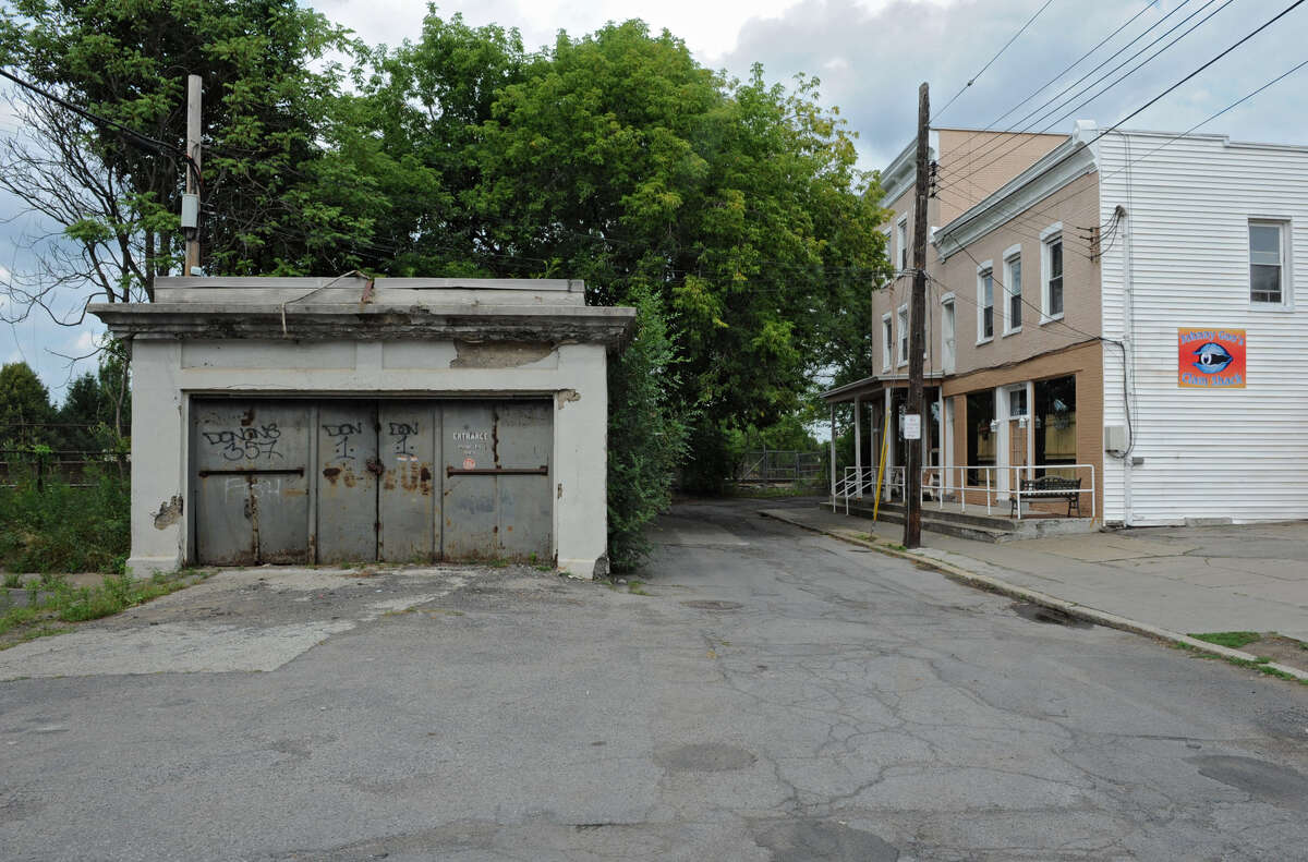 Old subway entrance at the end of Lower Broadway Wednesday, Aug. 15, 2012 in Schenectady, N.Y. (Lori Van Buren / Times Union)