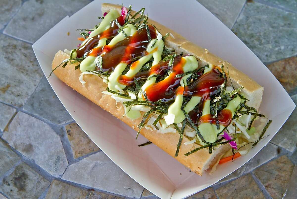 The Dogzilla Hot Dog at Hot Dog at Doggy-Style Hot Dogs in Alameda.