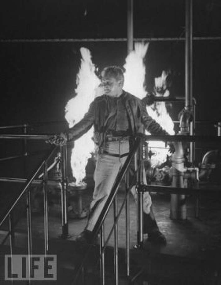 WHITE HEAT, with James Cagney on top of the world, but not in a Karen Carpenter sort of way. (Bauhaus)