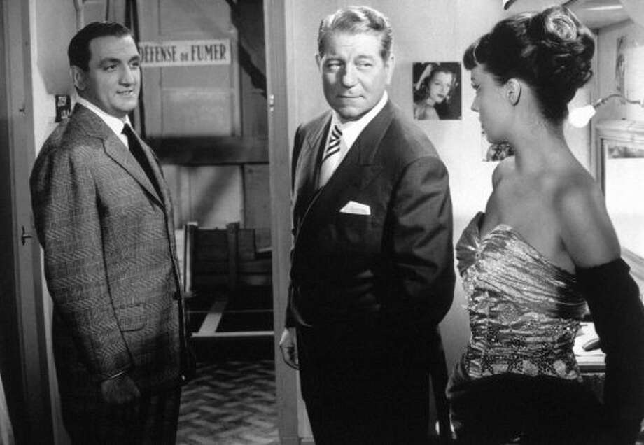 Lino Ventura, Jean Gabin and Jeanne Moreau  in TOUCHEZ PAS AU GRISBI, Jacques Becker's brilliant drama about an aging gangster who just wants to be left alone.