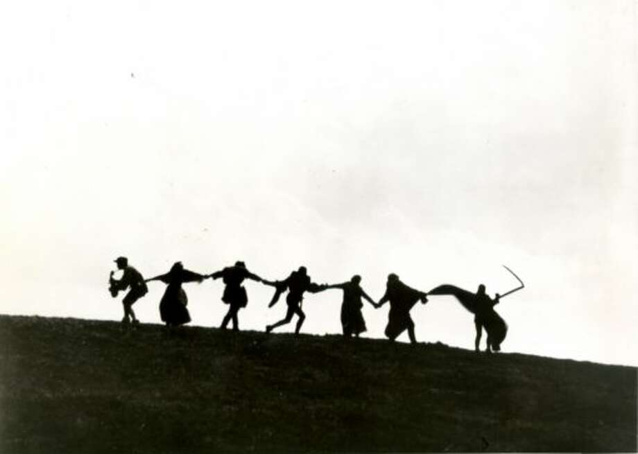 Scene from Ingmar Bergman's THE SEVENTH SEAL. A Janus Repertory Presentation. (jtyler)