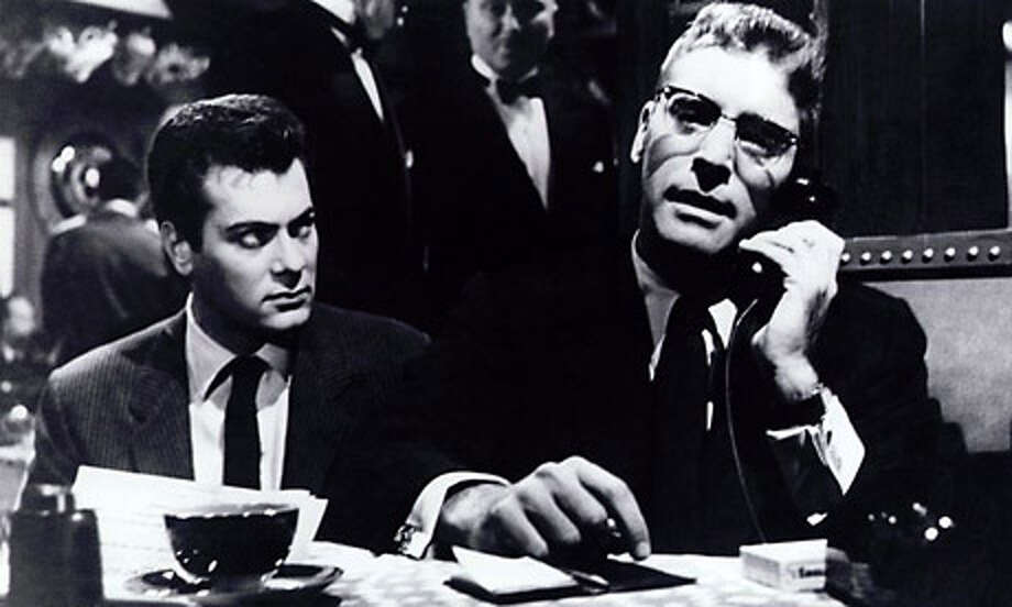 Tony Curtis and Burt Lancaster in SWEET SMELL OF SUCCESS (1957).