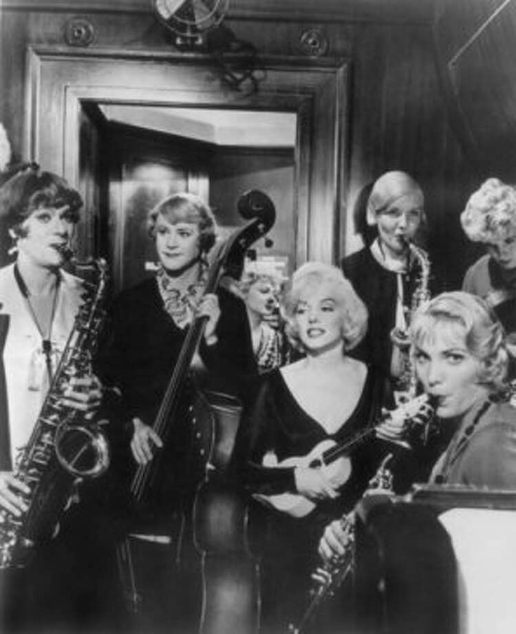 SOME LIKE IT HOT, with Tony Curtis, Jack Lemmon and Marilyn Monroe. (jtyler)