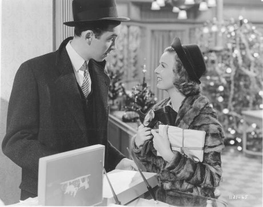 THE SHOP AROUND THE CORNER, 1940, with James Stewart and Margaret Sullavan. Lovely classic, and a chance to see Sullavan, who didn't make many movies, but was wonderful in all of them.