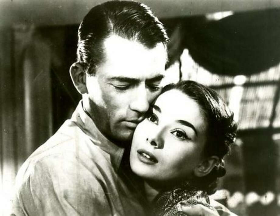 ROMAN HOLIDAY, with Gregory Peck and Audrey Hepburn. (shogun 9)